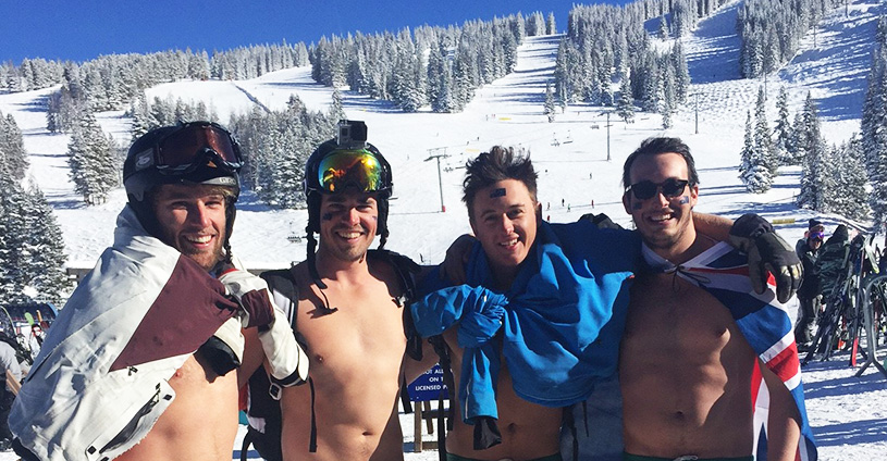 Male Skiers Australia Day Vail