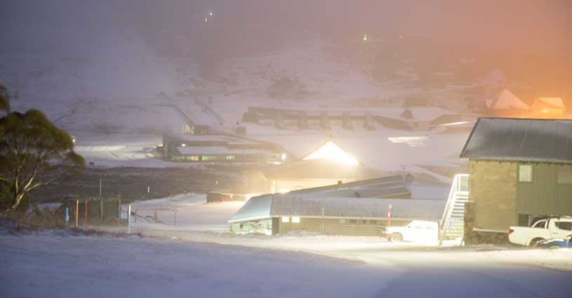 Morning Snowfall Perisher Front Valley