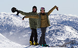 Boy Girl Snowboarder Perisher Views Thumbnail