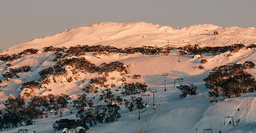Sunrise Mt Perisher Snowy Mountains